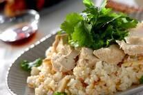 鶏肉とタケノコのエスニックライス