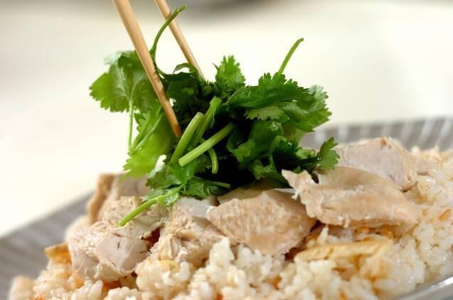 鶏肉とタケノコのエスニックライスの作り方の手順7