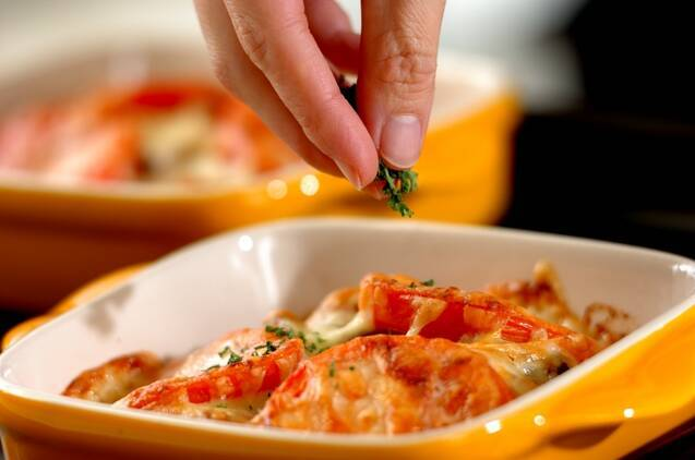 カキとトマトのチーズ焼きの作り方の手順5
