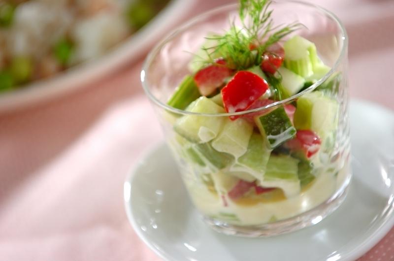 1.パプリカとセロリのサラダ