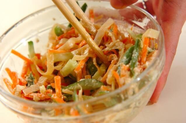 クラゲと野菜のピーナッツ和えの作り方の手順6