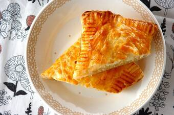 サツマイモとクリームチーズのパイ
