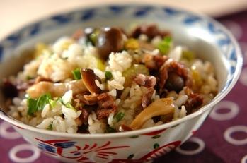 牛肉とセロリの混ぜご飯