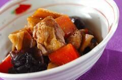 鶏とレンコンの煮物