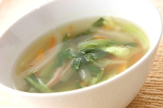 チンゲンサイのスープ