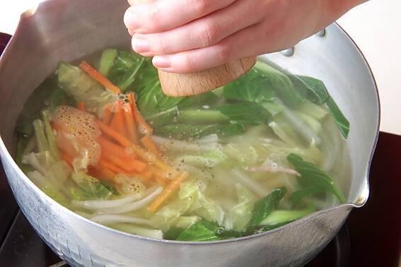 チンゲンサイのスープの作り方の手順6