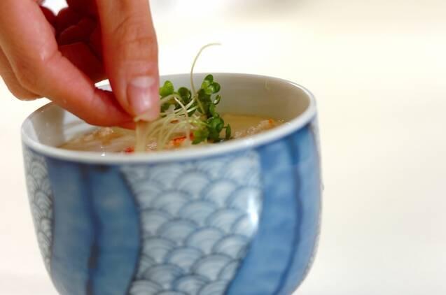 中華カニ玉風茶碗蒸しの作り方の手順8