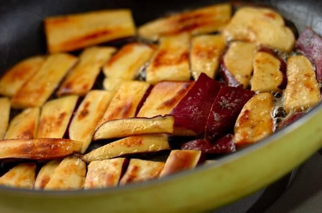 サツマイモのシナモンバター焼きの作り方の手順2