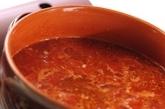 モッツァレラトマト鍋の作り方2