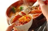 モッツァレラトマト鍋の作り方4