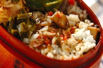 マイタケとツナの混ぜご飯
