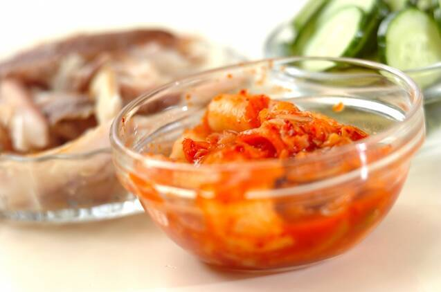 キムチ入り冷汁ご飯の作り方の手順1
