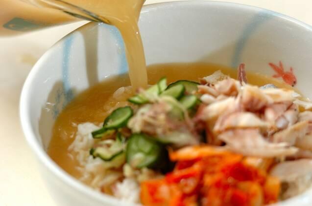 キムチ入り冷汁ご飯の作り方の手順4