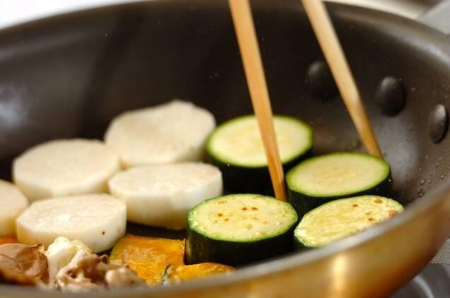 豚肉とマイタケのおかずサラダユズドレッシングの作り方の手順6