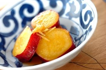 サツマイモのショウガレモン煮