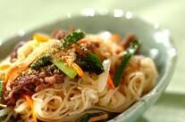 素麺のチャプチェ風