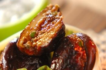 シイタケの肉詰め甘辛しょうゆ味