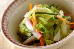 白菜とカマボコの和風コールスロー
