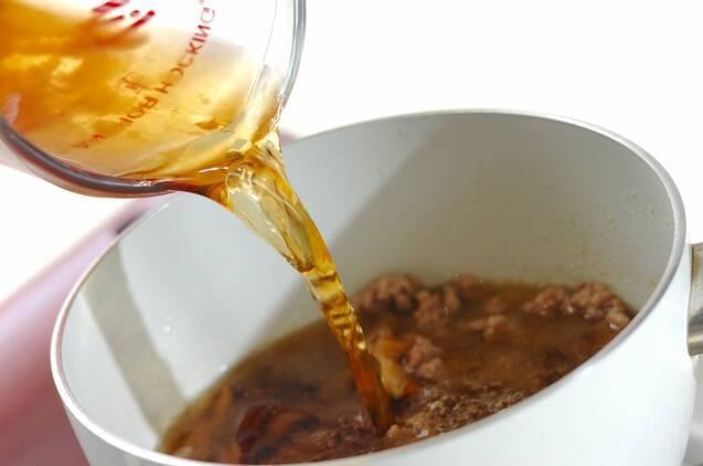 豚ひき肉とモヤシのスープの作り方の手順4