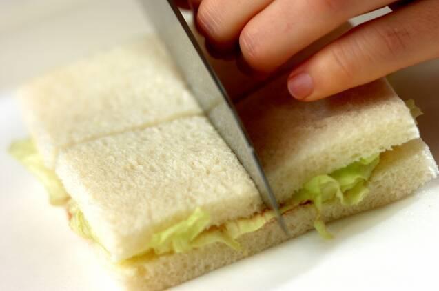 ハムとカッテージチーズのハーブサンドイッチの作り方の手順5