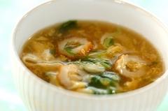 ちくわと水菜のかき玉スープ