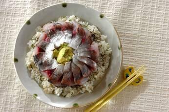 アジの酢〆ご飯