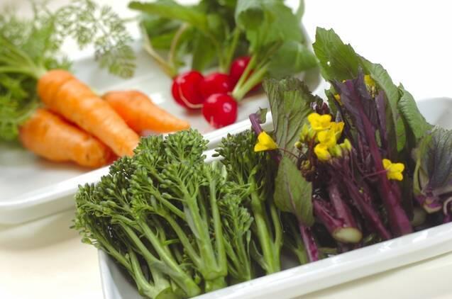 旬野菜のバーニャカウダの作り方の手順1
