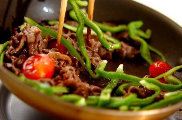 牛肉のオイスターソース炒めの作り方の手順3