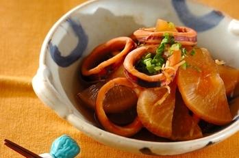 炊飯器で大根とイカの煮物