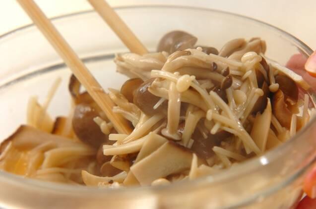 キノコのピリ辛ナムルの作り方の手順4