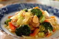 鶏肉と野菜の塩麹炒め