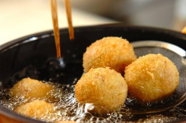 カレー風味のひとくちコロッケの作り方の手順4