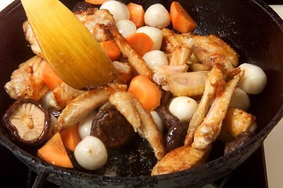 手羽先と野菜の煮物の作り方の手順8