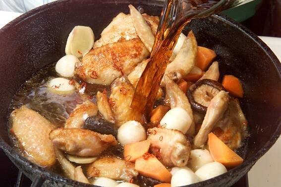 手羽先と野菜の煮物の作り方の手順9