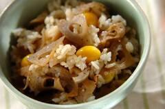 レンコンきんぴらの混ぜご飯