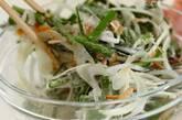 ニラと桜エビのペタンコ焼きの作り方2