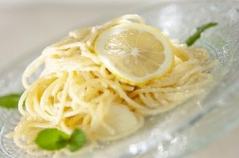 レモンクリームのパスタ