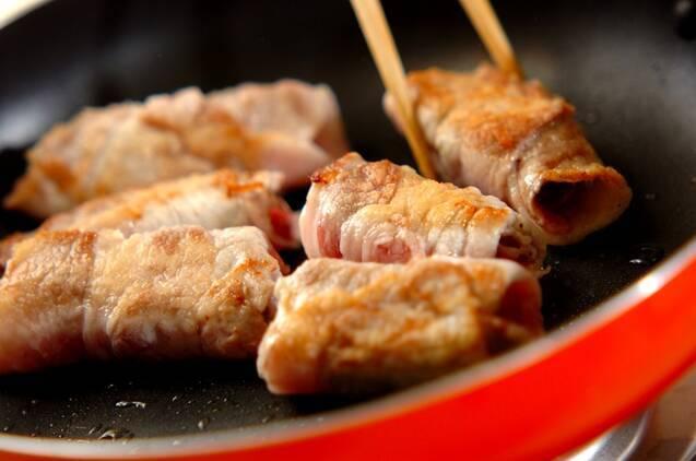 豚肉のフキ巻きの作り方の手順5