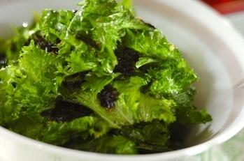 ワサビ菜チョレギサラダ