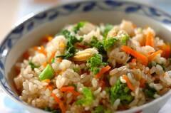 アサリと菜の花の炊き込みご飯