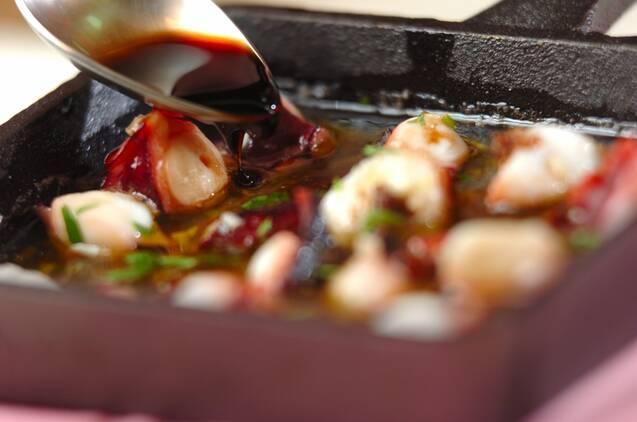 タコのアヒージョ風バルサミコ酢がけの作り方の手順2