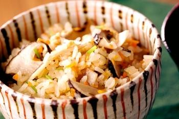 秋のごちそう 松茸ご飯