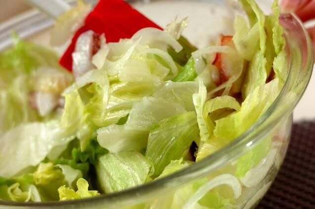 タコと新玉ネギのサラダの作り方の手順5
