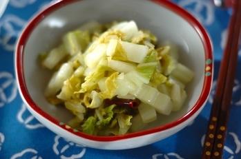 白菜の辛み甘酢和え