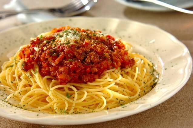 自家製ミートソーススパゲティ