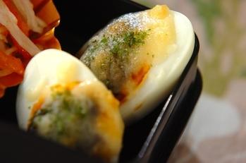 ゆで卵ののりチーズ