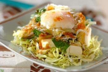 シラスと豆腐の和風サラダ