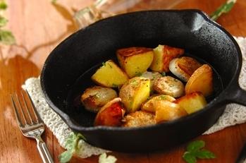 ジャガイモと里芋のグリル