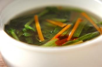 ホウレン草の中華スープ
