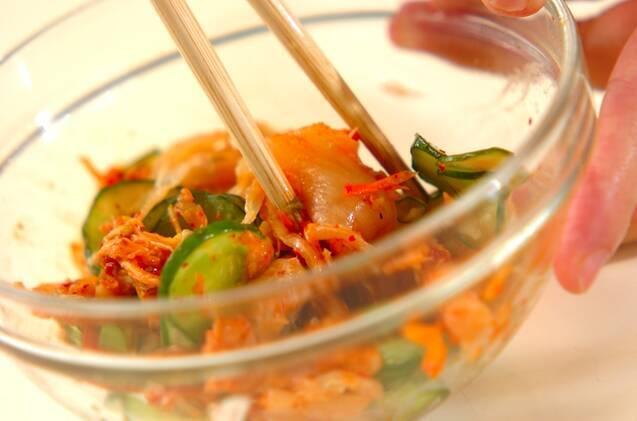 キムチとクラゲの和え物の作り方の手順4